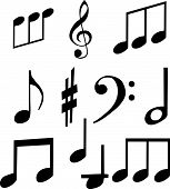 Set Of Musical Symbols