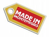Vector Label Made In Montenegro