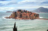 stock photo of yugoslavia  - The historic island of Sveti Stefan in Montenegro - JPG