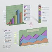 Color 3D Infographic Elements