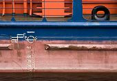 Cargo Ship Hull Texture With Red Waterline