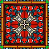 Seamless Stained Glass Window Panel