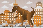picture of godzilla  - Vector illustration  - JPG