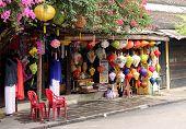 Vietnamese store retailing paper lanterns
