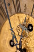 Detail Of Gold Historic Clock poster