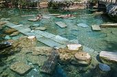 The Sacred Pool In Pamukkale, Turkey