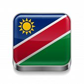 Metal  icon of Namibia