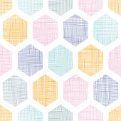Abstract colorful honeycomb fabric textured seamless pattern background