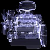 Diesel engine. X-ray render