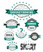 Brain icon designs & badges