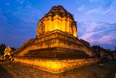 Wat Chedi Luang temple, Thailand