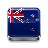 Metal  icon of New Zealand
