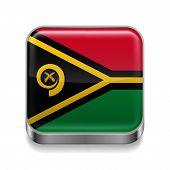 Metal  icon of  Vanuatu