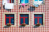 Tiled Building Facade In Lisbon