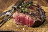 stock photo of rib eye steak  - steak - JPG