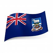 image of falklands  - Flag of Overseas British territory  - JPG
