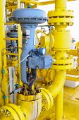 Control valve or pressure regulator in oil and gas process