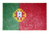Portuguese Flag made of plastic pearls