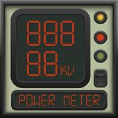 The user interface of the device - a power meter, ammeter, voltmeter and other units of measurement