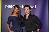 LAS VEGAS - APR 8:  Daniella Alonso, Freddy Rodriguez at the NBCUniversal Summer Press Day at Huntin