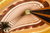 ABU DHABI, UAE - MARCH 25: Lobby and elevators of Khalidiya Palace by Rotana on March 25, 2014, UAE.