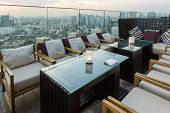 BANGKOK, THAILAND - NOV 29: View from the top of Octave Bar on November 29, 2013 in Bangkok, Thailan
