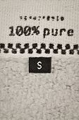 Size clothing label