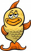 Golden Fish Cartoon Illustration