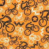 Colorful cycling background