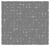 foto of deformed  - abstract gray deformed squares on the white background - JPG
