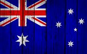 Australia Flag Grunge Background