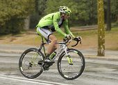 BARCELONA - 30, MARCH: Michel Koch of Cannondale Team rides during the Tour of Catalonia cycling rac