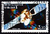 Postage Stamp France 1984 Telecom I Satellite