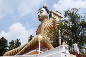 picture of vihara  - Buddha in Wewurukannala Vihara near Dikwella Sri Lanka - JPG