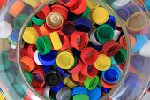 Color Plastic Caps From Pet Bottles