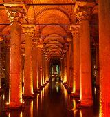 picture of cistern  - Underground Basilica Cistern  - JPG