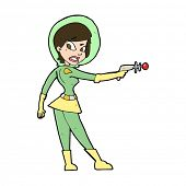 cartoon sci fi girl
