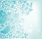 Abstract floral pattern background