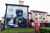 The Petrol Bomber Mural In Derry