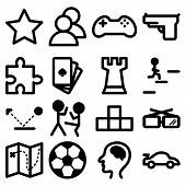 Icons For Computer And Playstation Games