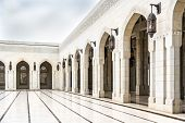 picture of oman  - Picture of Grand Sultan Qaboos Mosque in Muscat Oman - JPG