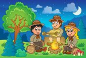 Children scouts theme image 2 - eps10 vector illustration.