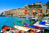 Colorful coastal village