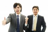 Smiling Asian businessmen