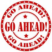 Go Ahead!-stamp