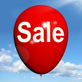 Sale Balloon Shows Discount And Offers In Selling
