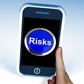 Risks On Phone Shows Investment Risks And Economy Crisis