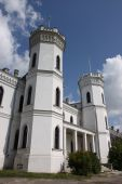 stock photo of leopold  - old white castle with towers in Sharovka patrimony - JPG