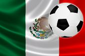 Soccer Ball Leaps Out Of Mexico's Flag