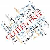 Gluten Free Word Cloud Concept Angled